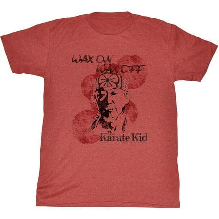 Karate Kid Wax On Miyagi Adult T-Shirt Tee - image 1 of 1