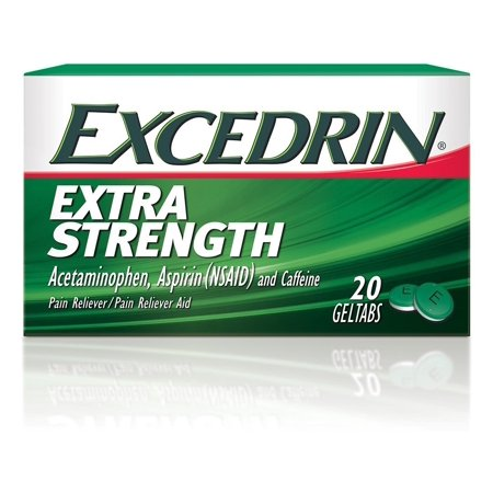 Excedrin Extra Strength Geltabs for Headache Relief, 20 (Best Treatment For Gas Pain)