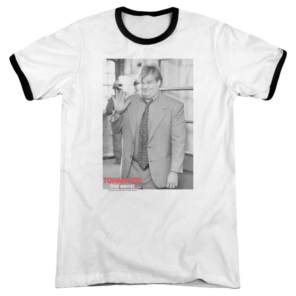Tommy Boy Square Mens Adult Heather Ringer Shirt