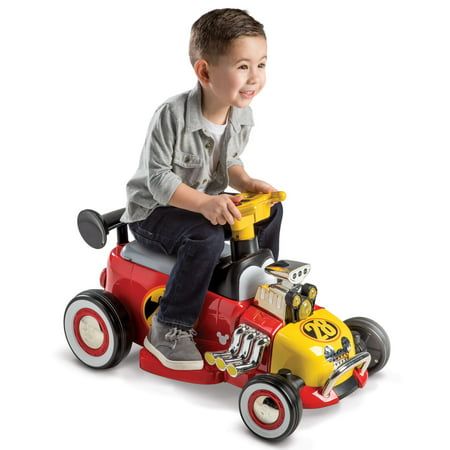 Disney Mickey Boys' 6V Battery-Powered Ride-On Quad by (Outdoor Quad)