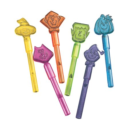 Fun Express - Halloween Character Whistles (6dz) for Halloween - Toys - Noisemakers - Kazoos & Whistles - Halloween - 72 Pieces - Holloween Express