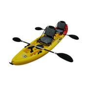BKC UH-TK219-US 12.2 ft. Tandem Sit On Top Kayak 2-3 person, 2 Paddles, 2 Upright Seats & 6 Fishing Rod Holder