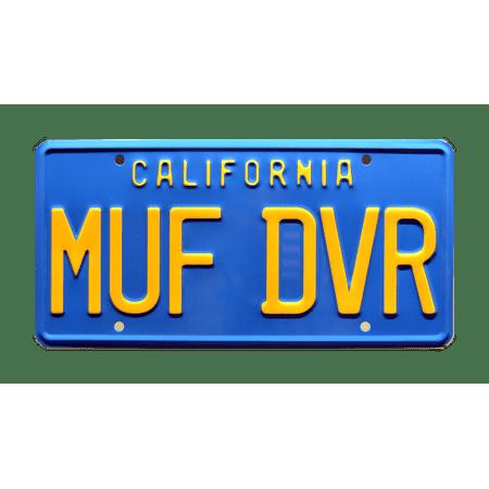 Cheech & Chong's Up in Smoke | Love Machine | MUF DVR | Metal Stamped Replica Prop License Plate ()
