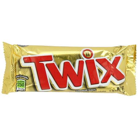 72 PACKS : Twix Chocolate Caramel Cookie Bar 1.79 oz ()