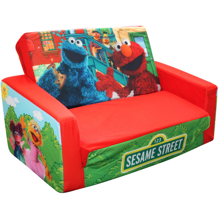 Marshmallow Flip Open Sofa with Slumber, Sesame Street