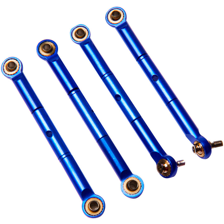 Atomik Alloy Front/Rear Adj Tie Rod Traxxas Slash 4X4, 1:16, Blue