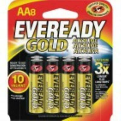 Eveready A91BP-8 AA Size Gold Alkaline General Purpose Battery - 8PK