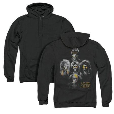 Trevco Sportswear TCF544BK-AZH-5 Its Always Sunny in Philadelphia & Rocker Heads Back Print Adult Zipper Hoodie, Black - 2X - image 1 of 1