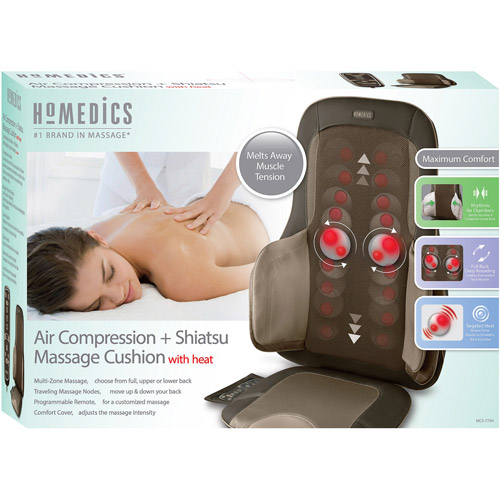 HoMedics Air Compression   Shiatsu Massage Cushion with Heat, MCS-775H