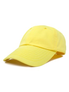 DALIX Youth Childrens Cotton Cap Plain Hat in Minion Yellow