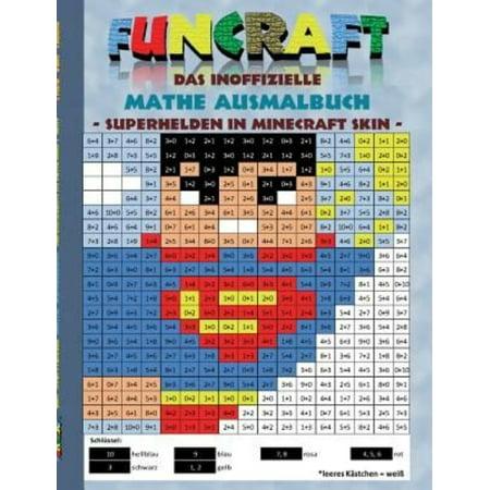 Funcraft   Das Inoffizielle Mathe Ausmalbuch  Superhelden Im Minecraft Skin  Superman Cover