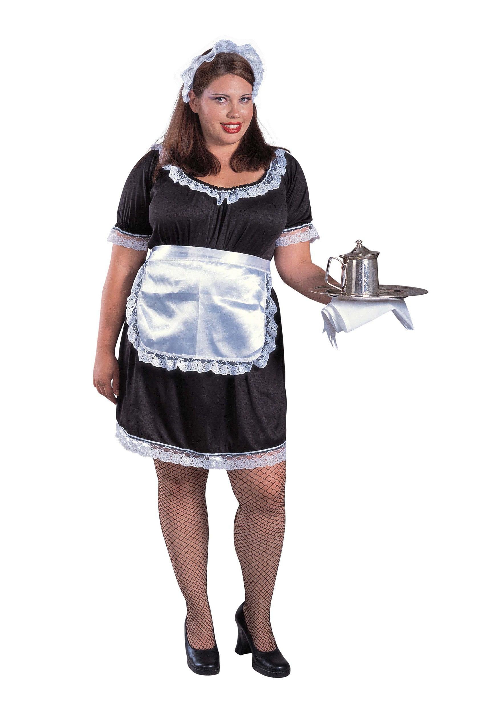 sc 1 st  Walmart & Womenu0027s Plus Size French Maid Costume - Walmart.com
