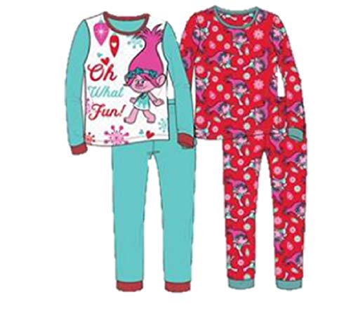 Trolls Girls Cotton 4-Piece-Pajama Set