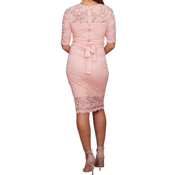 c9868f885219f Mommylicious - Maternity Floral Lace Fitted Formal Maternity Dress -  Walmart.com