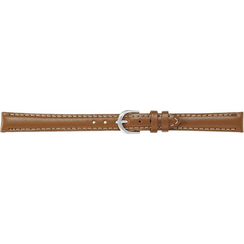 Timex Women's 12mm Padded Oiled Genuine-Leather Replacement Watch Band, Brown