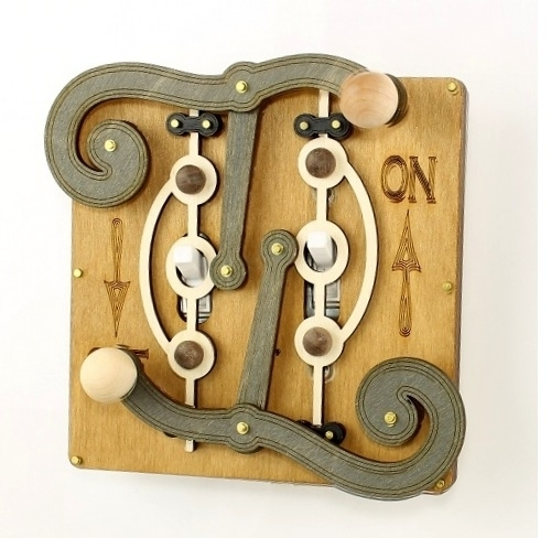 Green Tree Jewelry Double Fulcrum Natura Wood Light Switch Plate