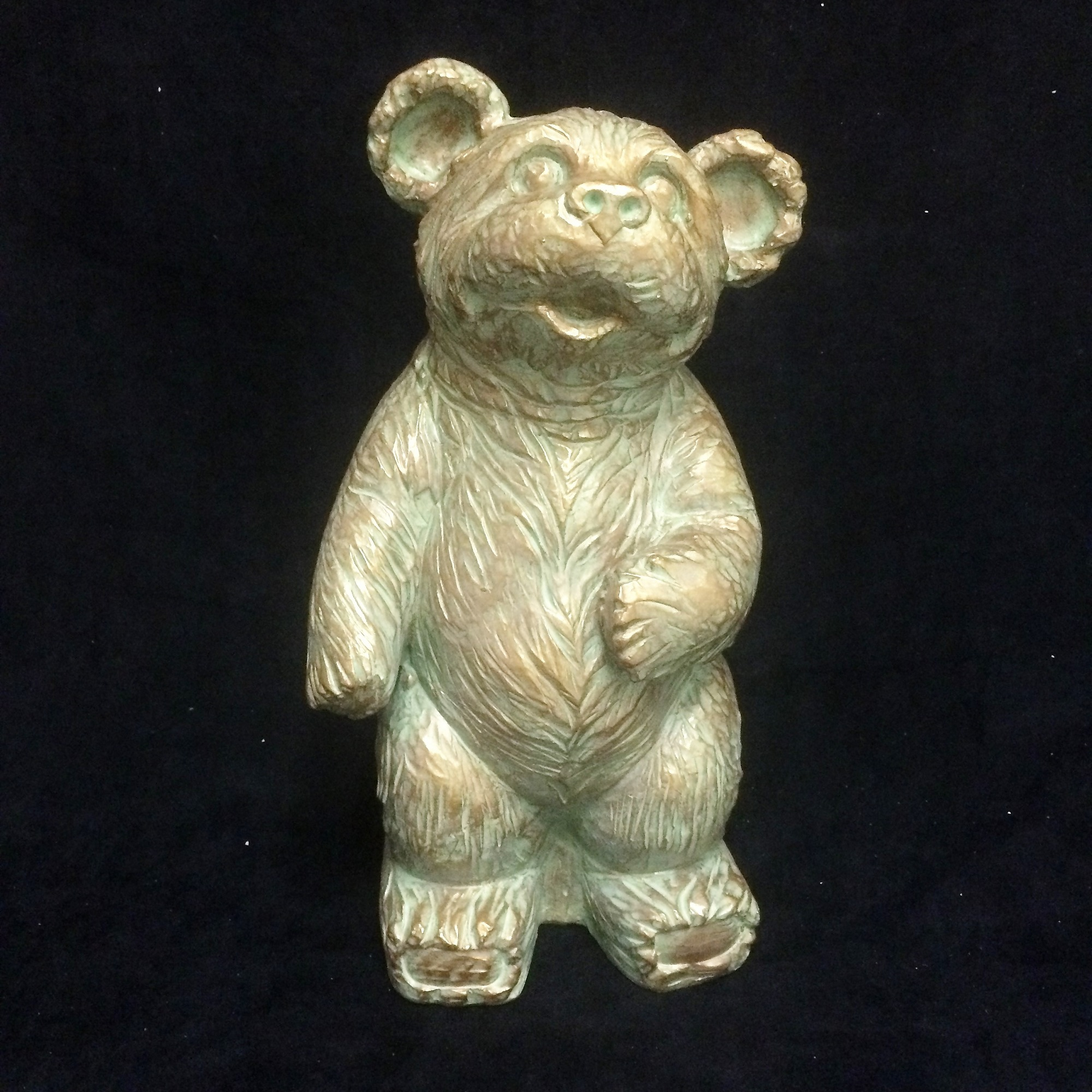 """Homestyles Call of the Wild 18""""H Large Mountain Black Bear in Bronze Patina Finish Lodge & Animal Garden Statue"""
