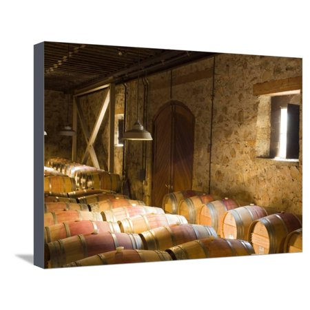 Window Light Streams Into Barrel Room at Hess Collection Winery, Napa Valley, California, USA Stretched Canvas Print Wall Art By Janis Miglavs (Hess Winery)