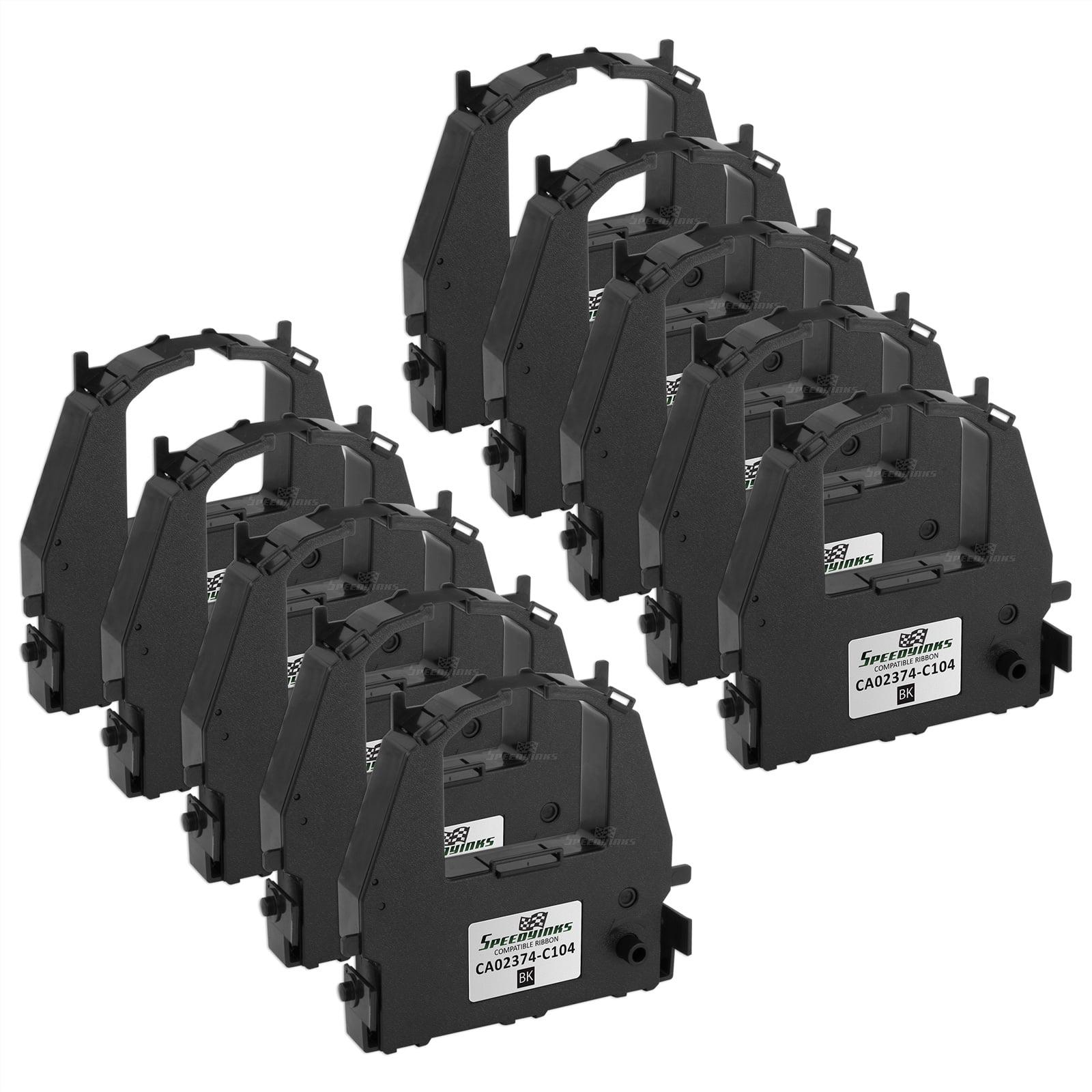 Speedy Inks - 10PK Compatible Fujitsu Black Printer Ribbon, CA02374-C104 for use in Compaq, Fujitsu, Genicom, & TallyGe