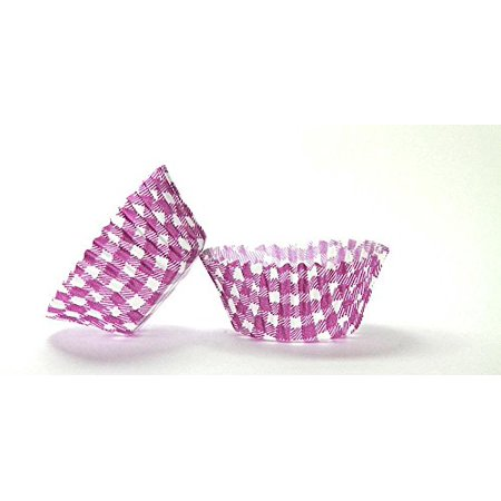 50pc Gingham Design Purple Standard Size Cupcake Baking Cups Liners Wrappers
