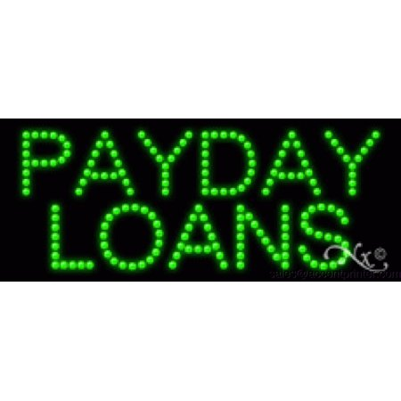 Payday Loans Indoor Flashing   Animated High Impact Energy Efficient Led Sign