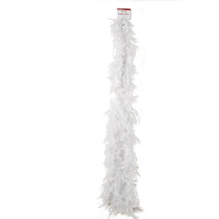 Simplicity Feather Boa Decor, 6', White for $<!---->