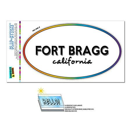 Fort Bragg, CA - California - Rainbow - City State - Oval Laminated Sticker