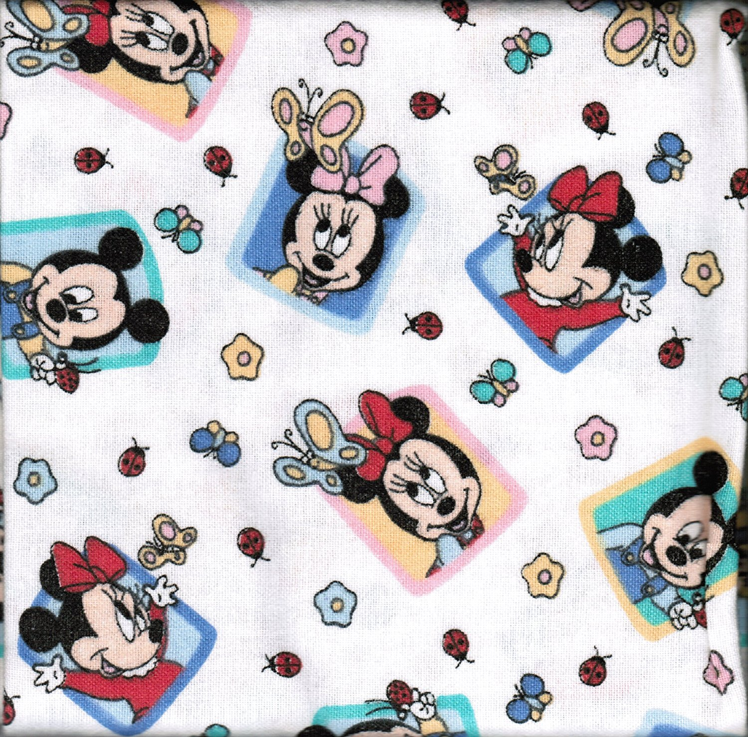 Disney Babies Mickey & Minnie Mouse Flannel Receiving Blankets-TWO blankets