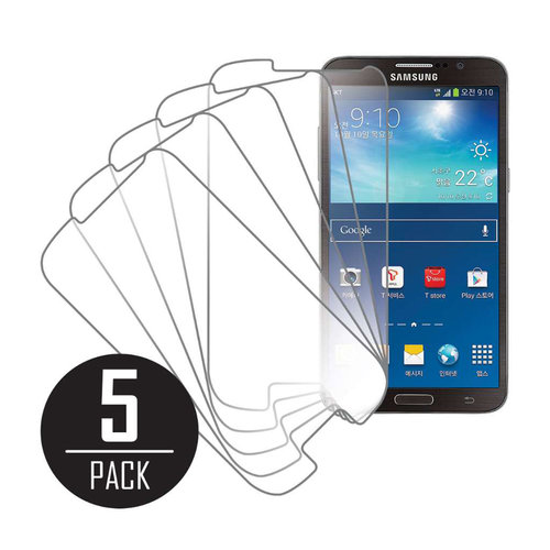 Samsung Galaxy Round G910, Screen Protectors, 5-Pack, Clear