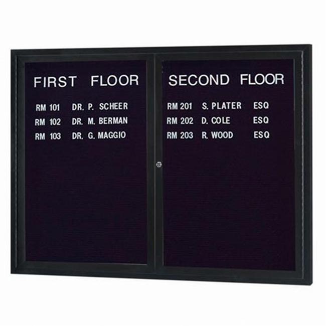 Aarco Products ADC4860IBK Illuminated Enclosed Directory Cabinet - Black