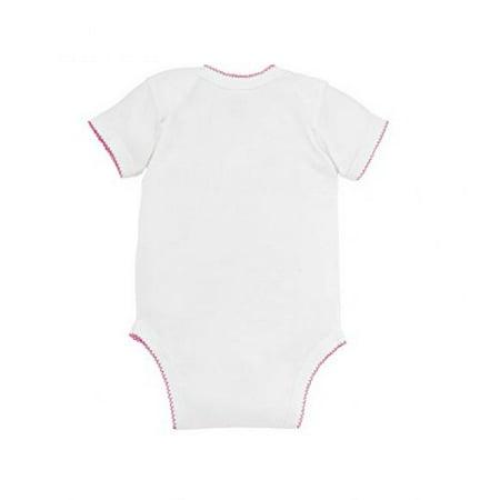 Rabbit Skins Infant Baby Rib Lap Shoulder Bodysuit (White Raspberry) (24)