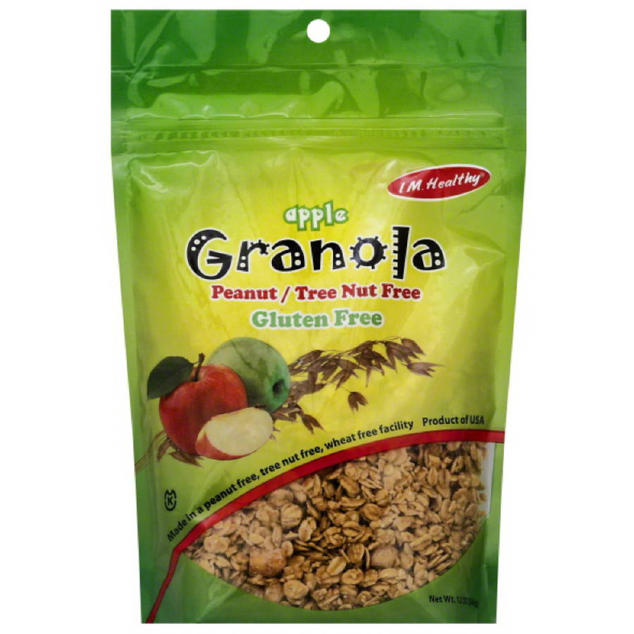 I M. Healthy Apple Granola, 12 oz, (Pack of 6)