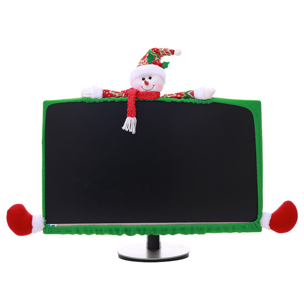 Christmas Hotel mall Cash register computer Dust Cover Snowman Elk Decorations