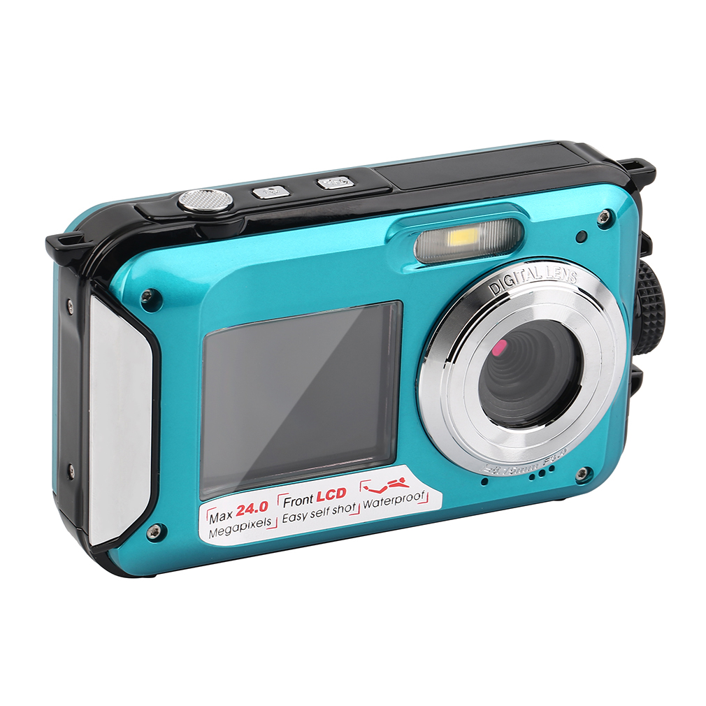 2.7inch TFT Digital Camera Waterproof 24MP MAX 1080P Double Screen 16x Digital Zoom Camcorder HD268 On Sale