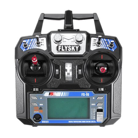 6 Right Hand Remote - FlySky FS-i6 i6 2.4G 6CH AFHDS RC Radio Transmitter Without Receiver for FPV RC Drone - Mode 1 (Right Hand Throttle) With Color Box