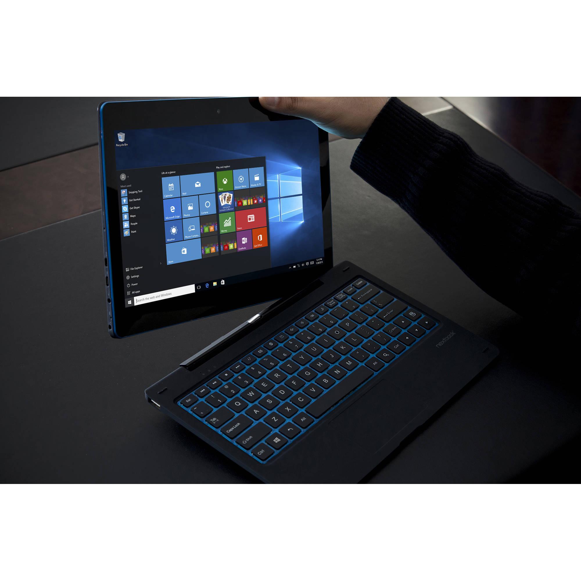 Windows nextbook flex 10 - Nextbook Flexx 11 6 2 In 1 Tablet 2 64gb Intel Quad Core Windows 10 Walmart Com