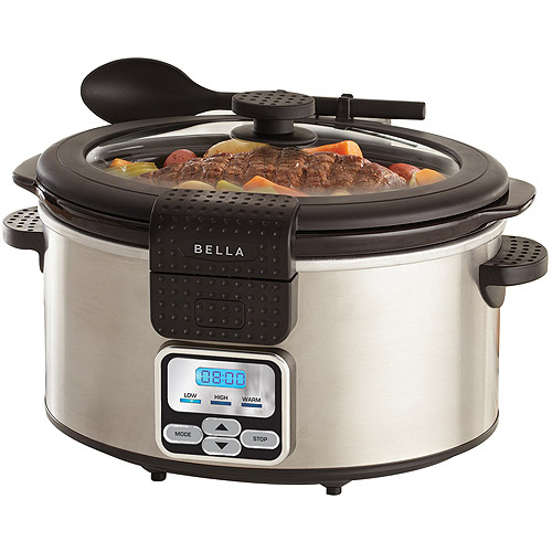 Bella 6QT Portable Slow Cooker with Locking Lid