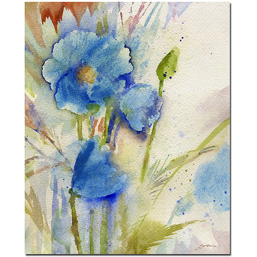 "Trademark Art ""Magical Blue Poppy"" Canvas Art by Sheila Golden"