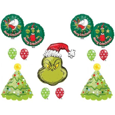 How The Grinch Stole Christmas Party Balloons Birthday Decorations Dr Seuss