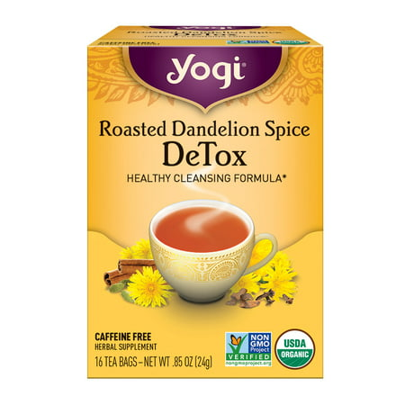 Yogi Tea, Roasted Dandelion Spice DeTox Tea, Tea Bags, 16 Ct, .85OZ