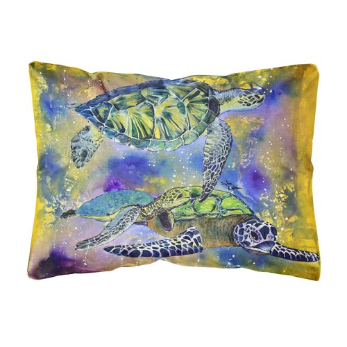 Zoomie Kids Koda Turtle Indoor/Outdoor Throw Pillow