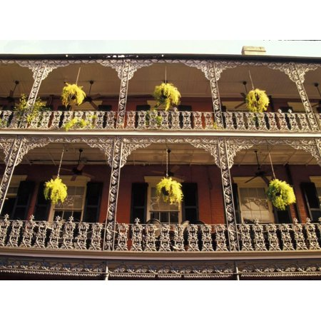 Wrought Iron Architecture and Baskets, French Quarter, New Orleans, Louisiana, USA Print Wall Art By Adam Jones ()