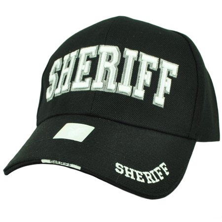 Sheriff County Deputy Police Law Enforcement Hat Cap Black Curved Bill Adjustable - Law Enforcement Party Supplies