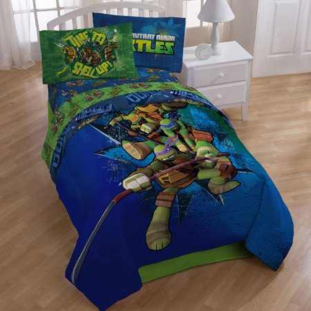 Nickelodeon Teenage Mutant Ninja Turtles Twin or Full Comforter, 1 Each](Ninja Turtle Sweets)