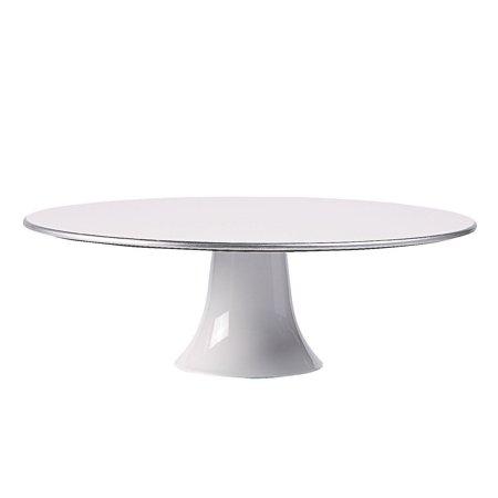 Fun Express - White Round Cake Plate 11.5in for Wedding - Party Supplies - Serveware & Barware - Serving Platters - Wedding - 1 Piece - Party Serveware Supplies