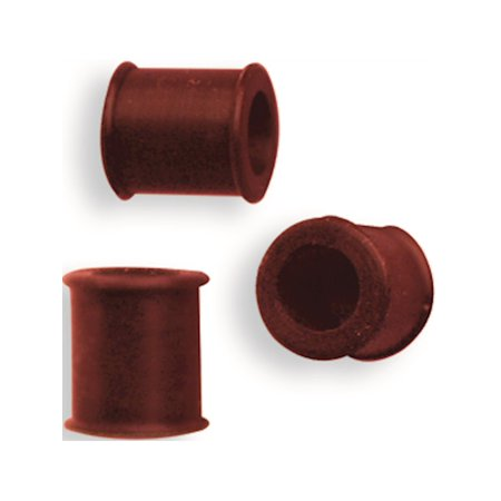 Silicone Flexible Flesh Tunnels 2G (6mm) Red Non Metal