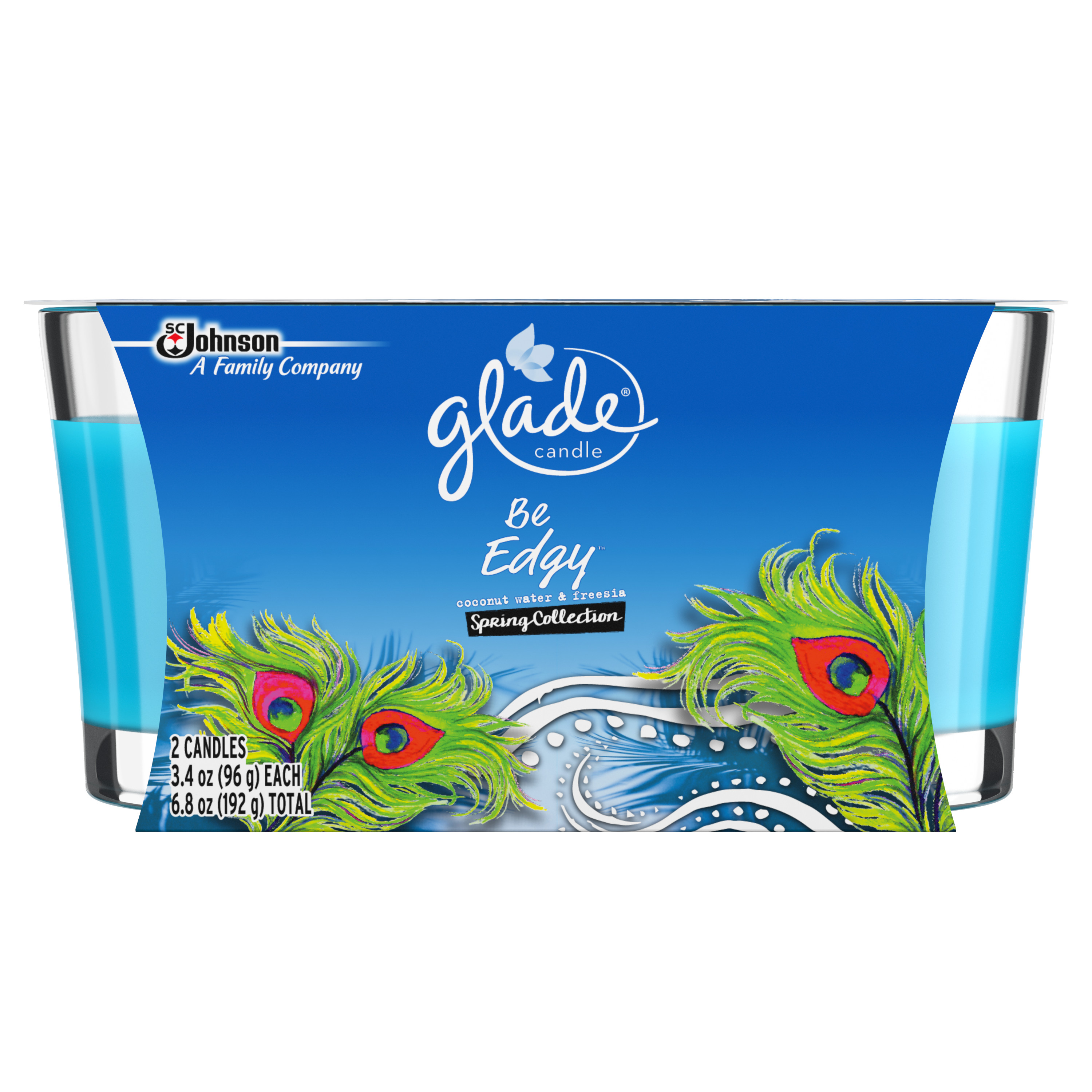 Glade Jar Candle, Be Edgy, 2 ct, 6.8 oz