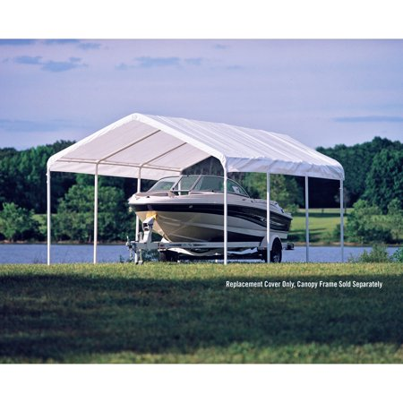 Shelterlogic 12 x 20\' White Canopy Replacement Cover Fits 2\