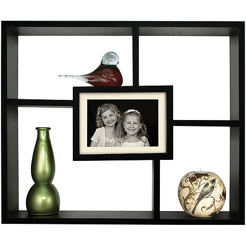 Pinnacle Frame Windowpane Large Shadowbox, Black