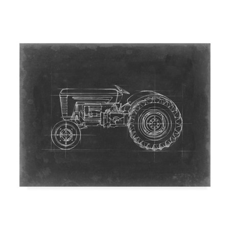 Trademark Fine Art 'Tractor Blueprint I' Canvas Art by Ethan Harper (Tractor Canvas Art)